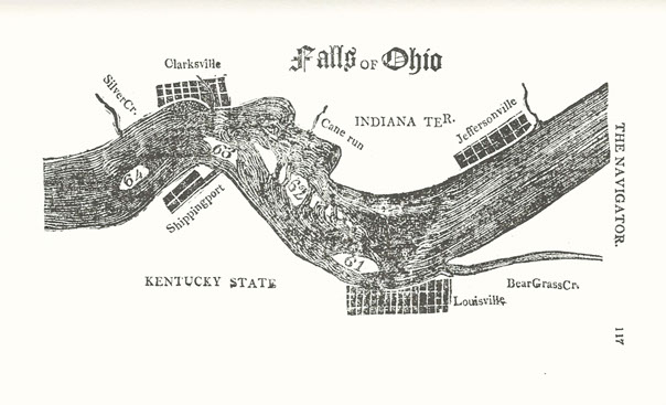 Falls Of The Ohio Map.Falls Of The Ohio